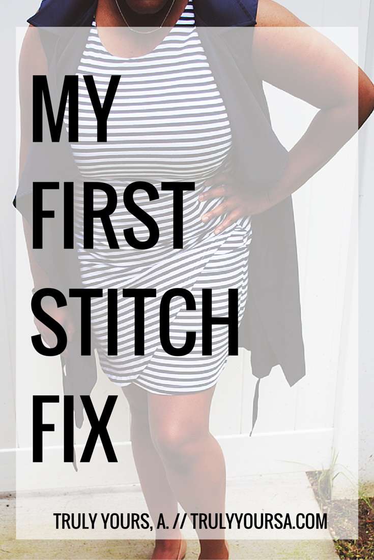 A fashion post featuring my first Stitch Fix box including items from Pixley, Market & Spruce, Fun2Fun, Gorjana.