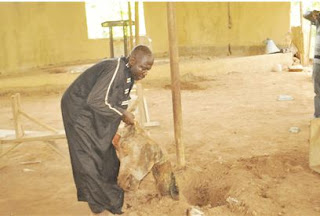 OMG! Prophet Buries Cow Head, Tortoise In Church - See PHOTO!