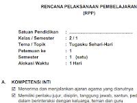 RPP Kelas 2 Tema 3 Tugasku Sehari Hari