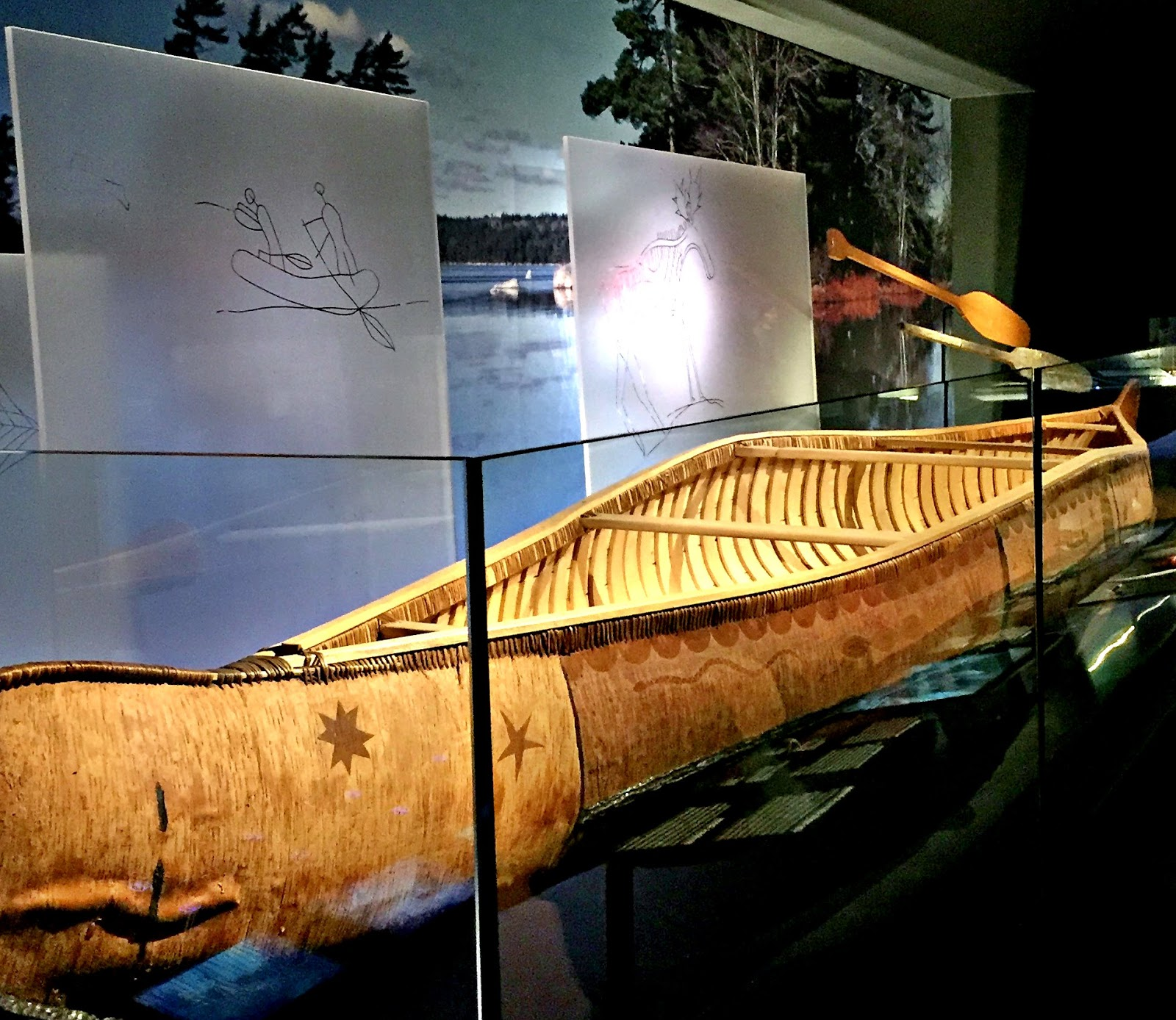 Canoe in the Canadian History Hall | kathleenhelen