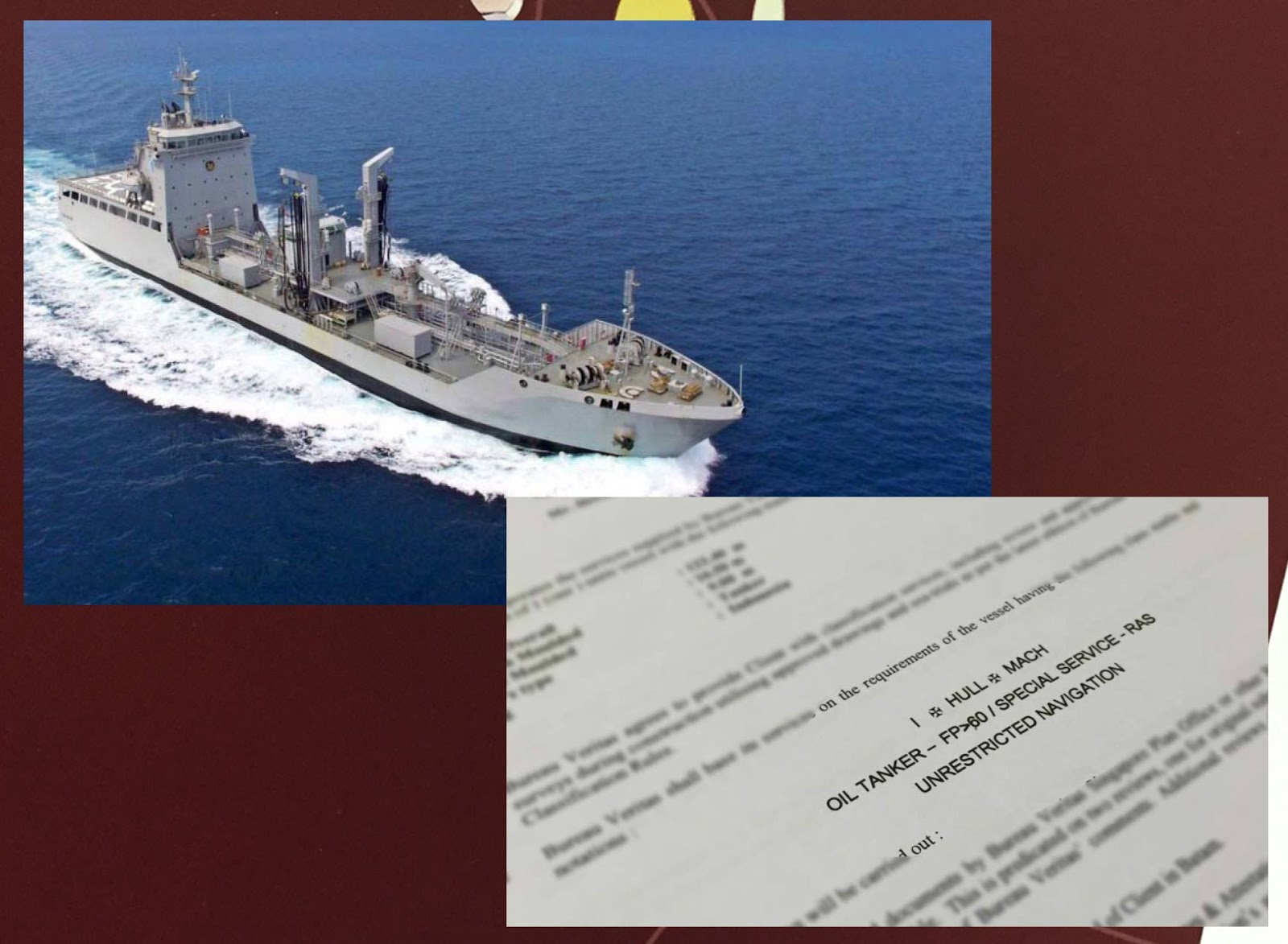 defense studies classification certificate for a new building project of an oil tanker for tni al. Black Bedroom Furniture Sets. Home Design Ideas