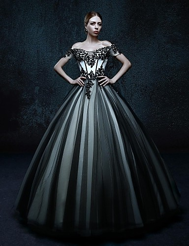 vestidos de novia con color negro