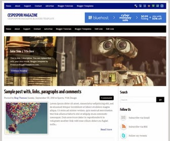 Cespospori Magazine Blogger Template