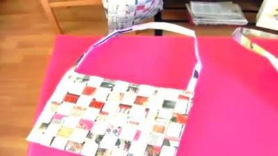 Cara Membuat Tas dari Koran Dianyam