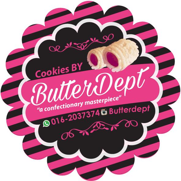 Design sticker untuk penggila cookies butter dept