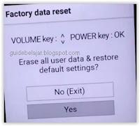 reset LG X POWER2