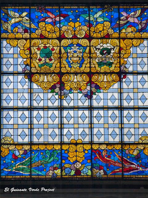 Mercado de la Ribera (vidriera) - Bilbao por El Guisante Verde Project