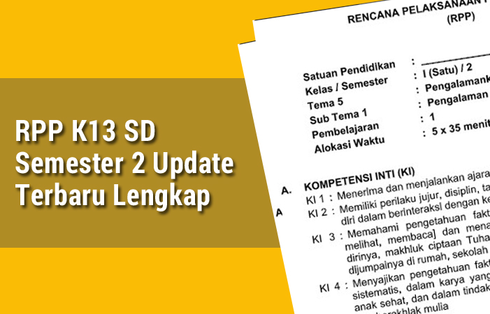 RPP K13 SD Semester 2 Update Terbaru