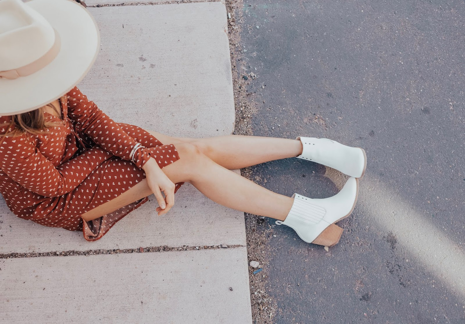 white booties for spring