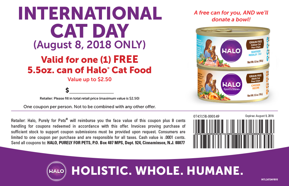 Millionaires Giving Money: Can Of Halo Cat Food Giveaway - Hurry