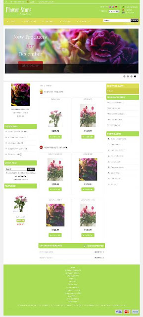 Free osCommerce 2.3.3 Template for Flower Store