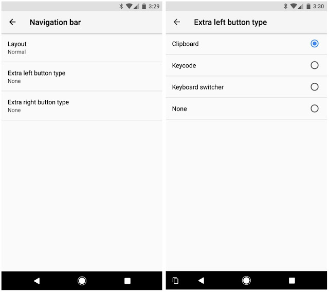 Android O custom navigation bar