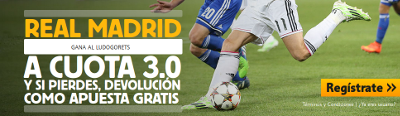 betfair Real Madrid gana Ludogorets champions cuota 9 diciembre