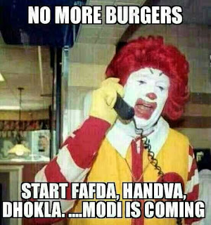 Modi is coming McDonalds