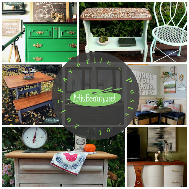 artisbeauty.net favorite posts of 2017 furniture makeover diy blogger before and after rustic before and after farmhouse bohemian eclectic decor