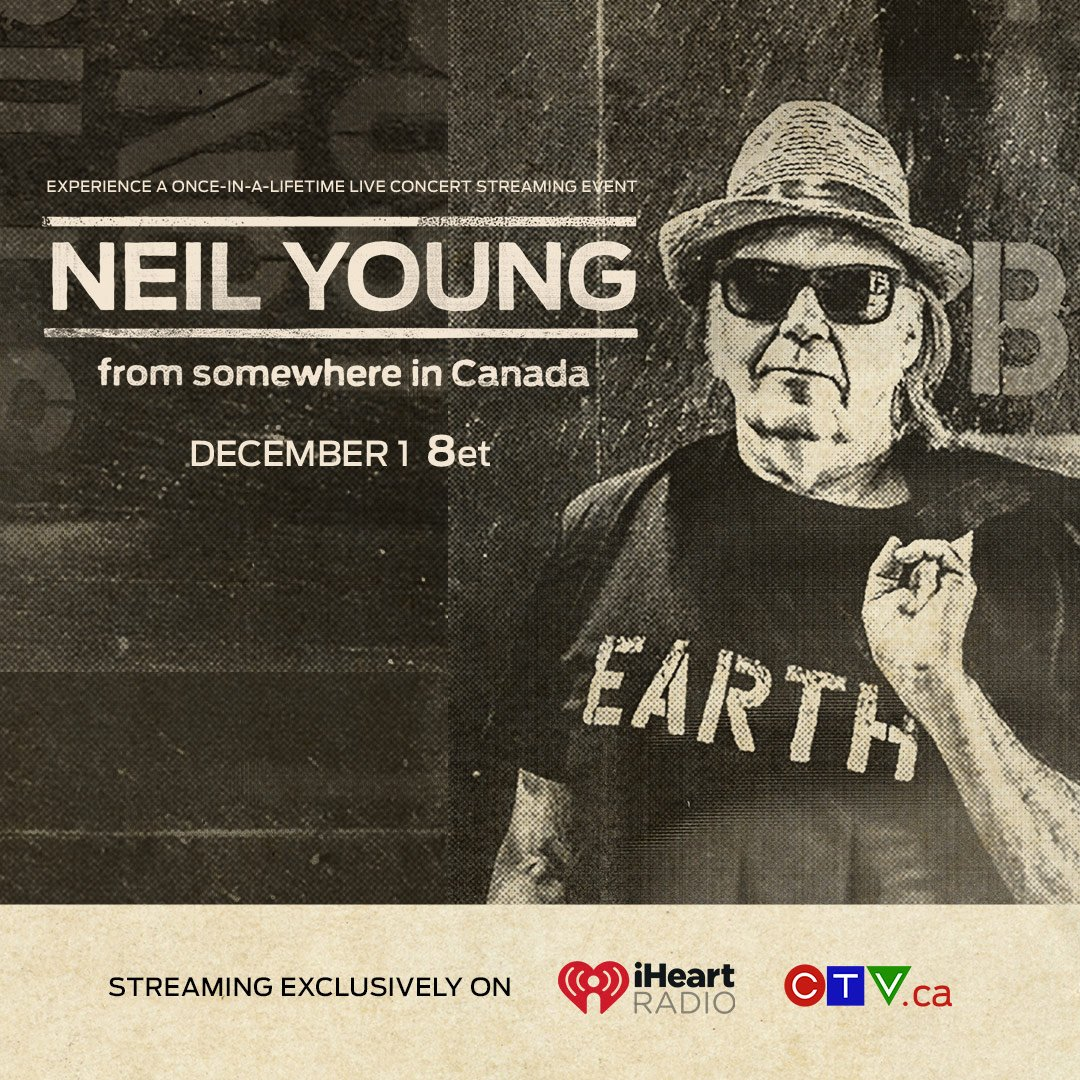 neil young news excitement builds over neil young 39 s somewhere in canada concert on december 1. Black Bedroom Furniture Sets. Home Design Ideas