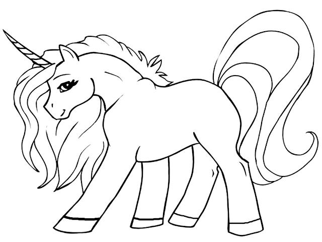Gambar Mewarnai Unicorn