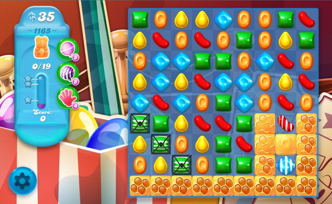 Candy Crush Soda Saga level 1165