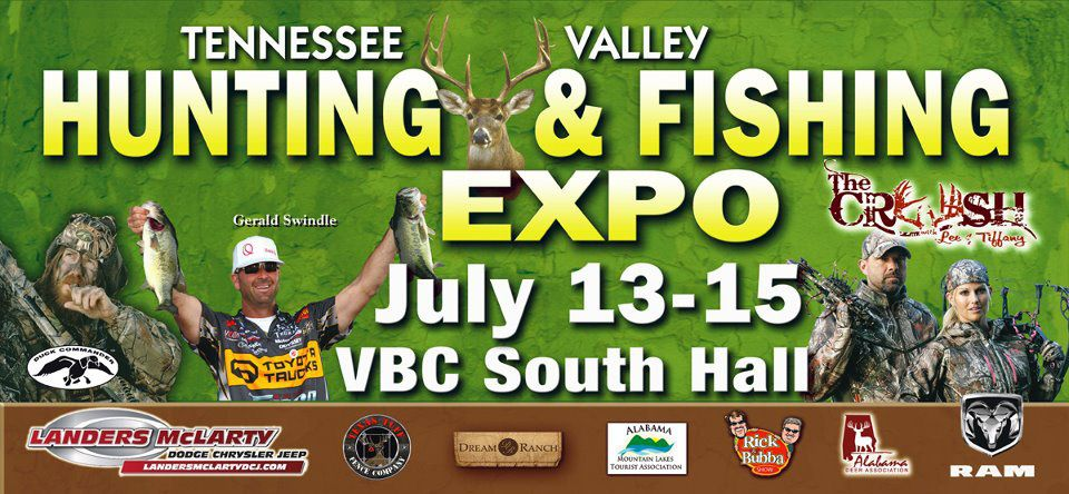 Tennessee Valley Hunting and Fishing Expo, July 12-14