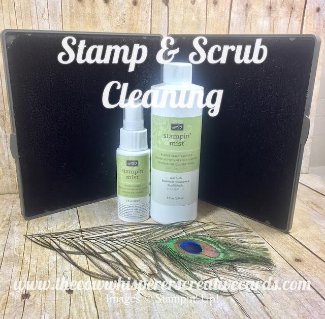 Stamp & Scrub, Stampin Mist, Stampin Up, Clean, Tip, Craft