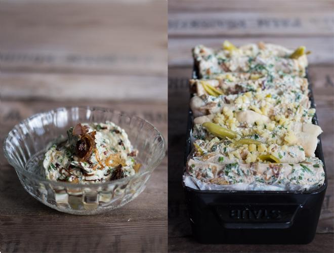 Zupfbrot mit Frischkäse und Kräuterbutter -Philly Cheese Pull Apart Bread