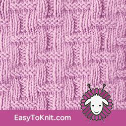 KnitPurl Basketweave stitch, FREE Knitting Pattern.  #easytoknit