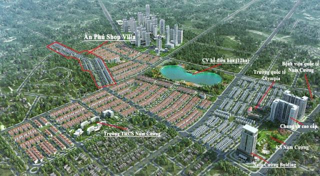 Phối cảnh tổng thể khu đô thị Nam Cường