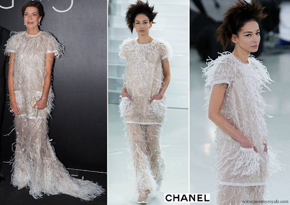 Princess Caroline of Hanover wore a dress from Spring Summer 2014 Haute Couture collection of Chanel