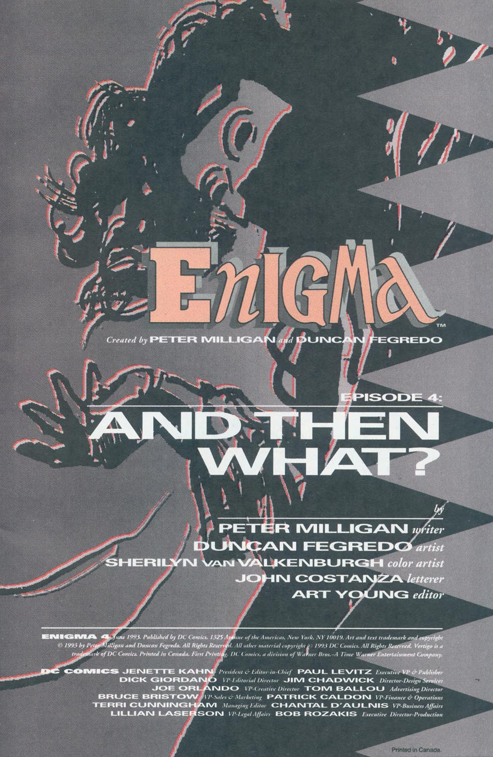 Read online Enigma comic -  Issue #4 - 2