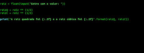 Código Python no editor nano