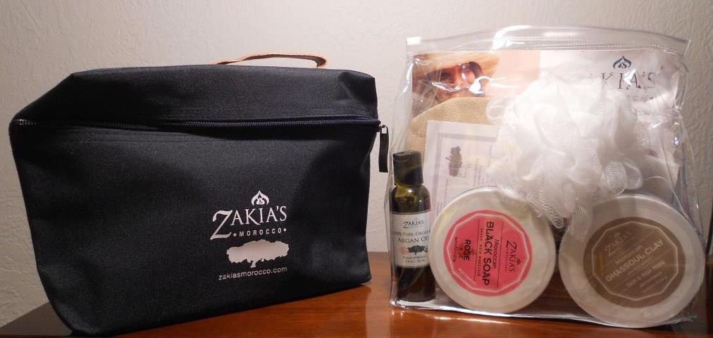 Zakia Moroccan Hammam Home Rose Spa Kit