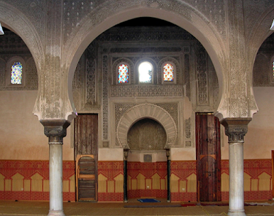 Inside the mosque mihrab