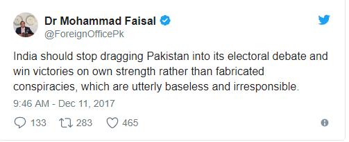 Tweet by Dr. Muhammad Faisal