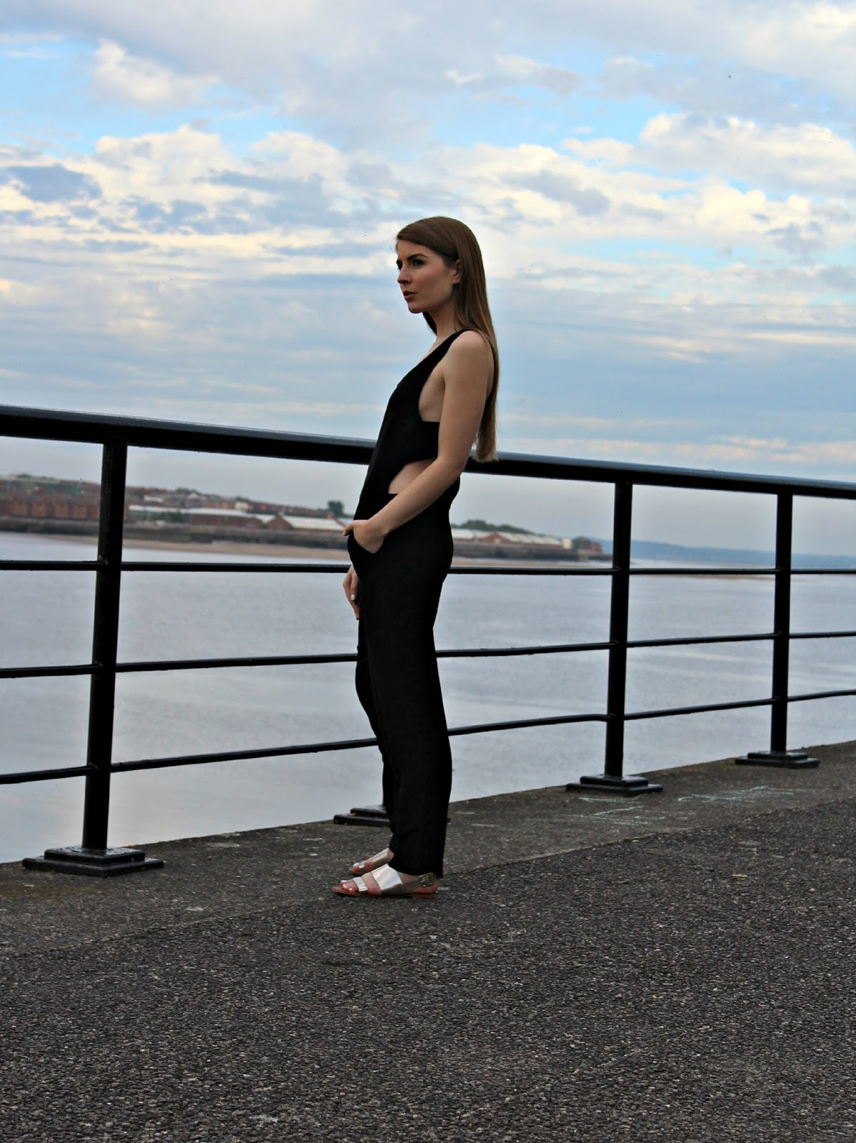 c166be2dfee Style Trunk   Outfit  Black Jumpsuit and Sleek Hair with Tigi x ASOS