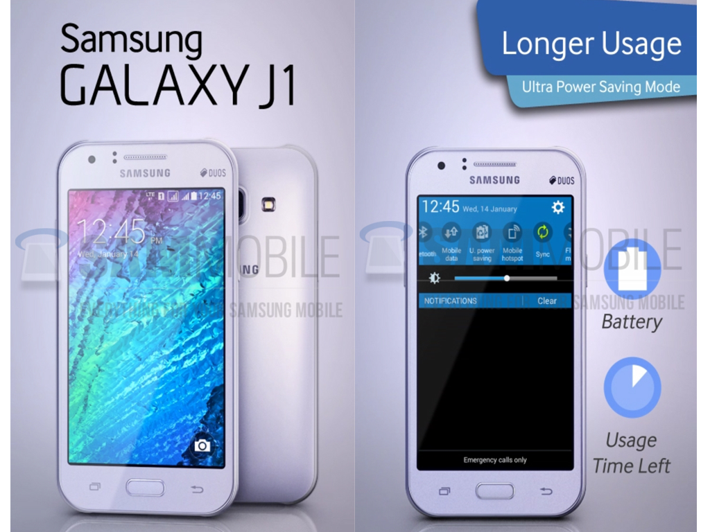 Samsung Galaxy J1: Low-end Smartphone Powered By 64-Bit Processor