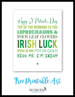 St. patrick's day printable art, printable poster, st. paddy's day, shamrock art, leprechaun poster, luck of the iIrish