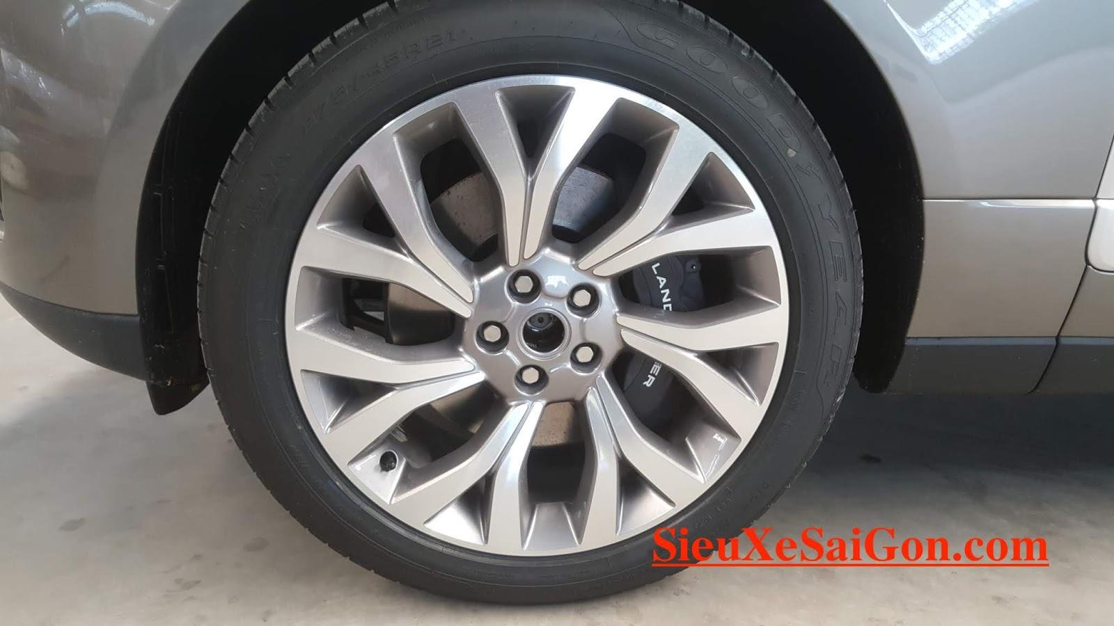 Mâm xe 21 inch hợp kim, Mẫu Động Cơ 3.0 V6 Range Rover Phiên Bản Dài LWB Autobiography 2018 Model 2019 Giao Ngay Giá Bao Nhieu Tiền - màu silicon silver ánh kim bạc