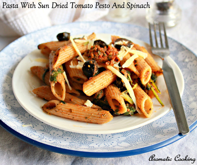Aromatic Cooking: Pasta With Sun Dried Tomato Pesto And ...