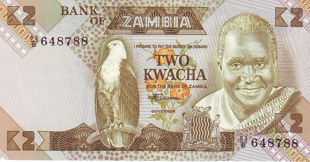 Us Dollars And Zambian Kwacha The Currency Is