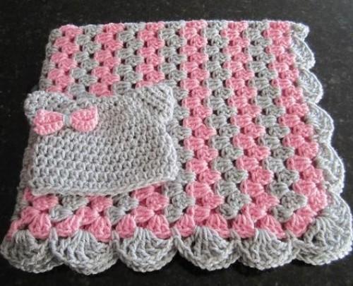 Zigzag Baby Blanket - Free Crochet Diagram