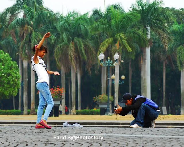 fotografer wisata, kisah fotografer, foto langsung jadi, Monas