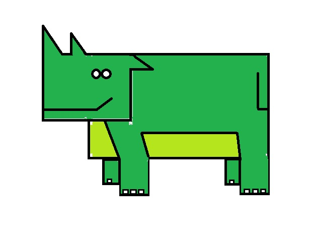 Ignite Dreams : How to draw a rhino in MS paint using Shapes