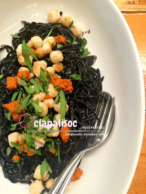 Squid Ink and Aligue Pasta Earth Kitchen