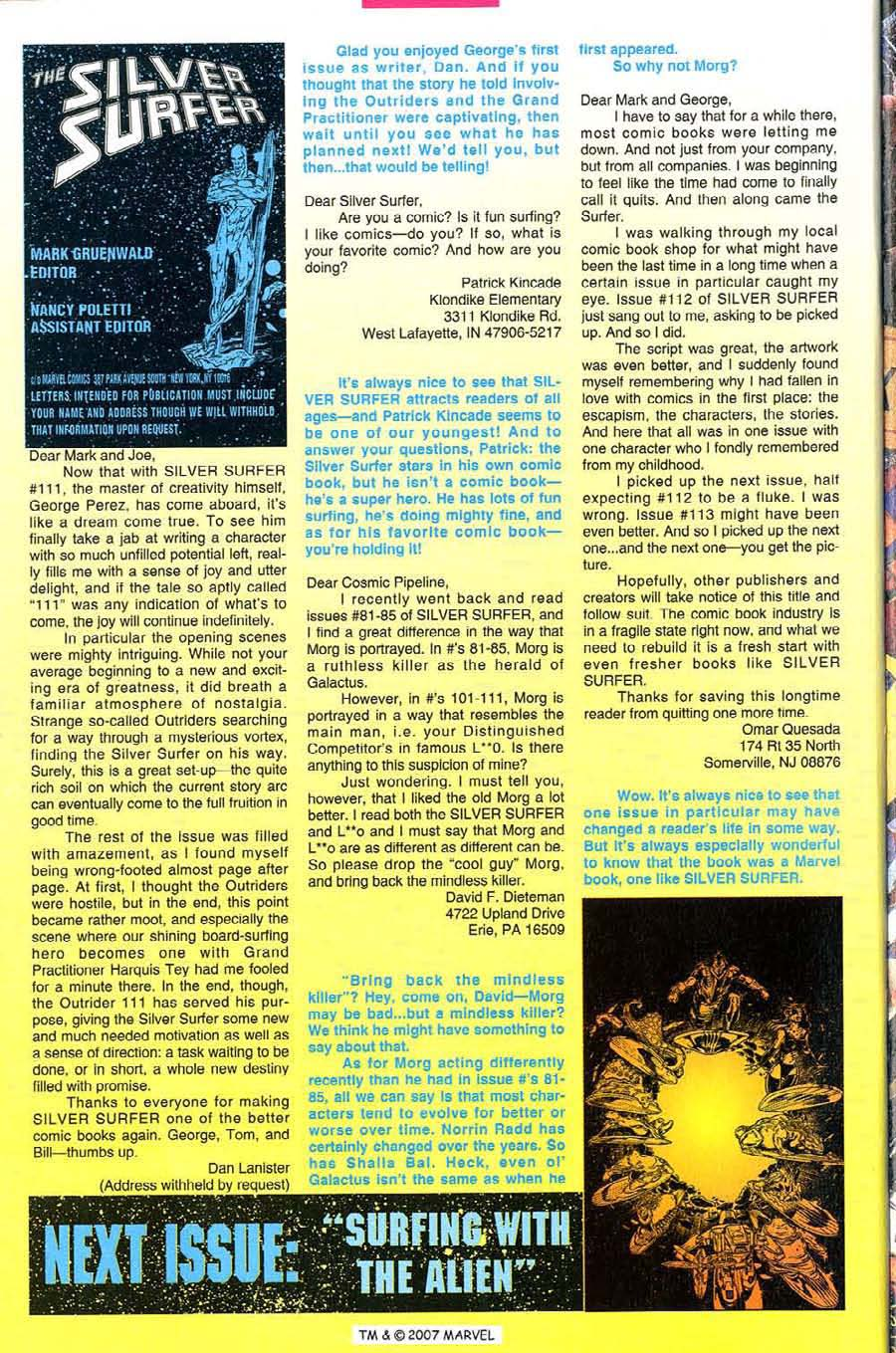 Read online Silver Surfer (1987) comic -  Issue #115 - 34