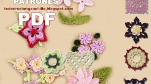 100 patrones de flores para tejer a crochet / libro en pdf para descargar