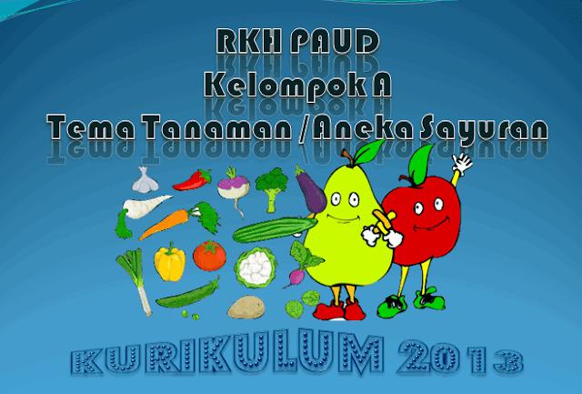 RKH PAUD Kelompok A 4-5 Tahun Kurikulum 2013 Tema Tanaman /Aneka Buah