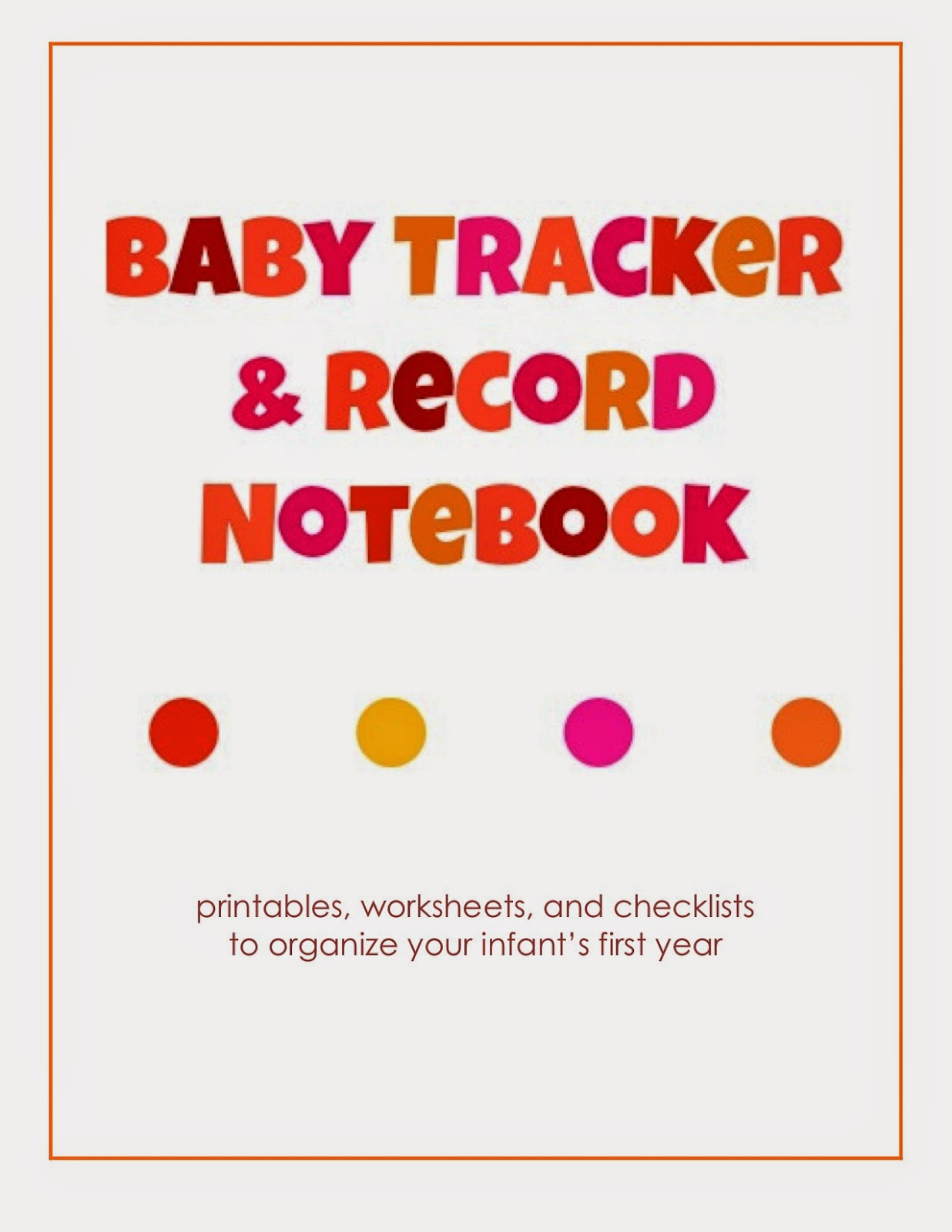 Laura's Plans: Baby Tracker and Record Notebook for Girls