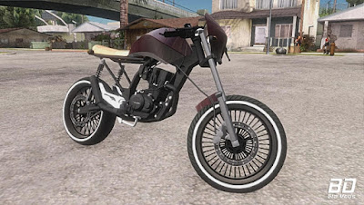 Download , Mod , Moto ,  Honda Fan 150 CafeRacer para GTA San Andreas, jogo GTA SA