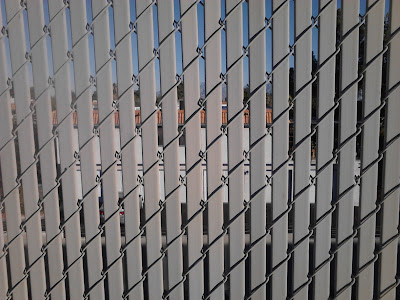 Image result for chain link pvc slats windbreak
