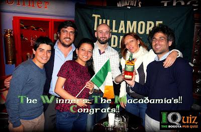 "IQuiz ""The Bogotá Pub Quiz"": the inaugural winners ..."